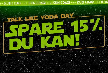 15% rabat på udvalgt Star Wars merch!