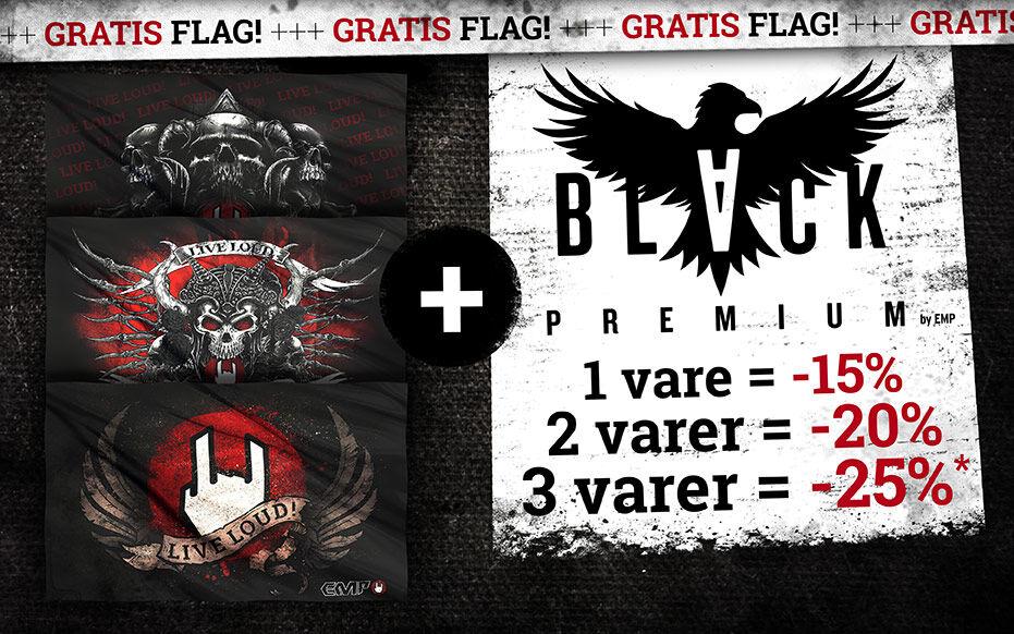 Store rabatter + gratis flag!