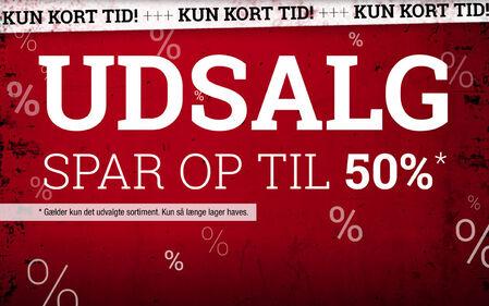 Udsalg! Spar op til 50%!