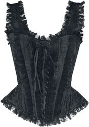 Black Lace Corset with Straps