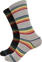 Rainbow Stripes sokker, 2 par