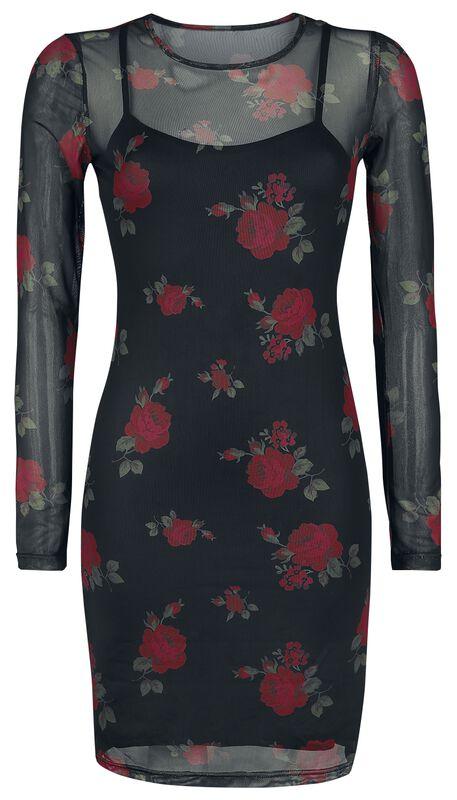 Roses 2-i-1 Mesh-kjole