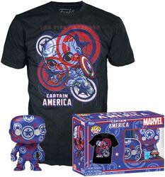 Marvel Patriotic Age - Captain America (Art Series) - Pop! & Tee