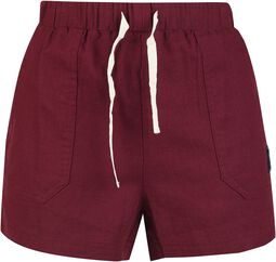 Short Red Shorts with Lacing