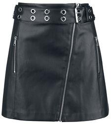 Kunstlæder-nederdel