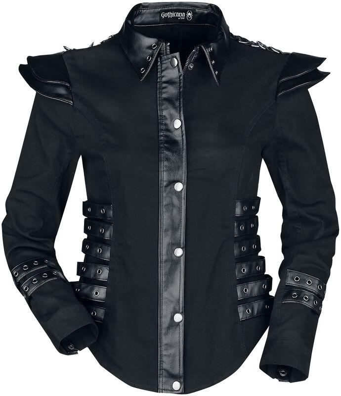 Jacke mit aufwendigen Kunstlederdetails