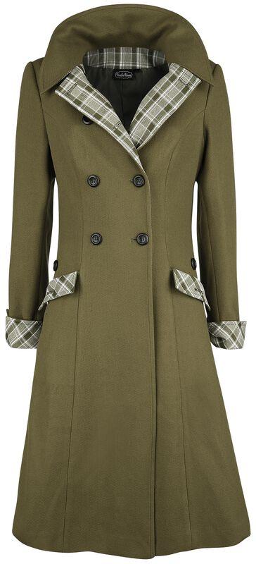 Susie Coat Button Up Plaid