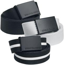 Canvas Belt 3-Pak