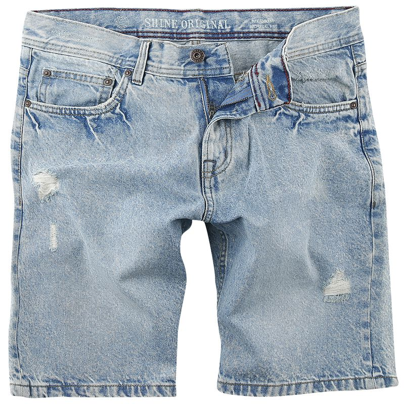 Loose Fit Denim Shorts