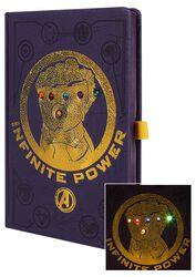 Infinity War - Gauntlet - Notesbog med LEDs