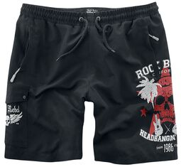 Skull Print Badeshorts Rock Rebel