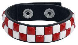 Rød-hvid armbånd