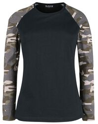Long-Sleeve Shirt with Camo Sleeves