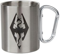 V - Skyrim - Dragon Symbol - krus med karabinerhank