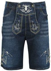 Short Jeans Lederhosen