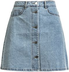 Sunny Short Denim Skater Skirt