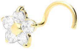 Ægte guld - Crystal Flower næsering