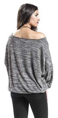 Oversized Melange Wideneck Sweater