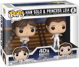 Empire Strikes Back 40th Anniversary - Han Solo & Princess Leia (2 Figurer) Vinyl Figure