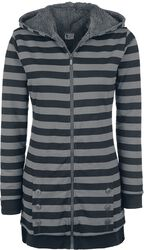 Striped Fleece Coat