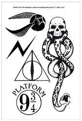 Harry Potter Tattoo-sæt