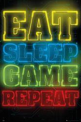 Gaming Eat Sleep Game Repeat