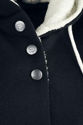 Coat with fleece lining