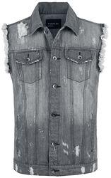 Destroyed Washed Denim Vest