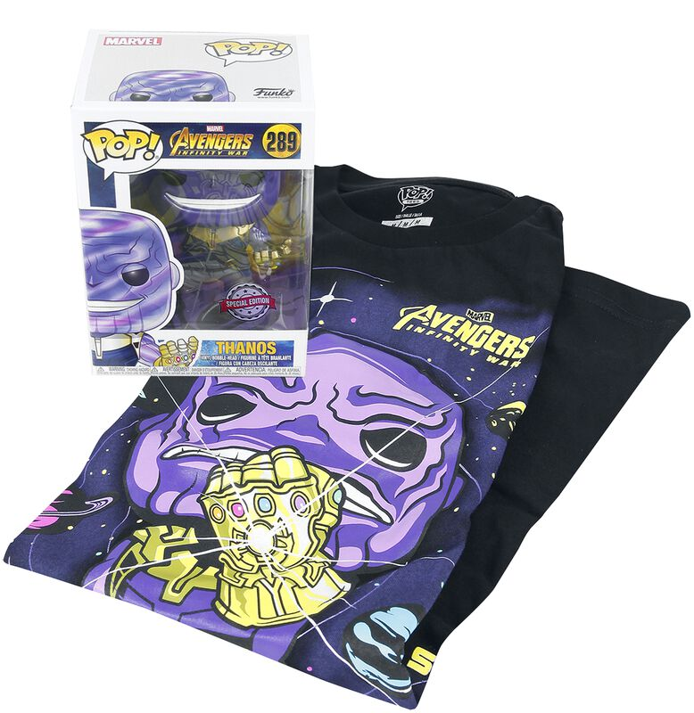 Infinity War - Thanos T-Shirt plus Funko - Fanpakke
