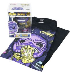 Infinity War - Thanos T-Shirt plus Funko - Fanpakke
