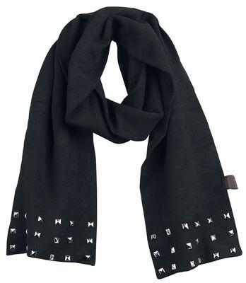 Halstørklæde med nitter