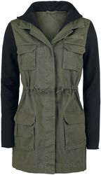 Contrast Sleeve Military Jacket
