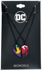 Harley and Joker 3D Heart Necklaces