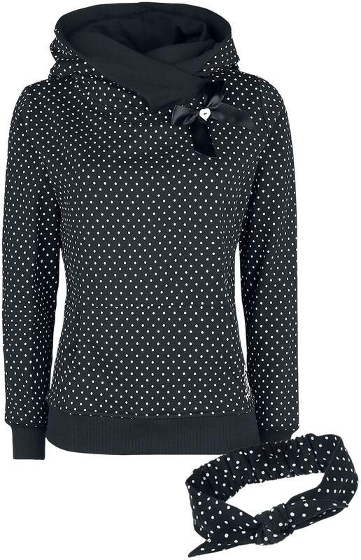 Dots sweater med sjalkrave