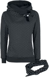 Dots sweater med sjalkrave