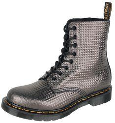 1460 Pascal Gunmetal Stud Emboss Leather 8 Eye Boot