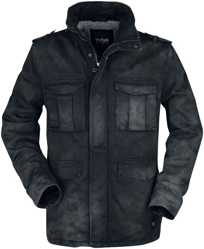 Winter jacket with washing in used look