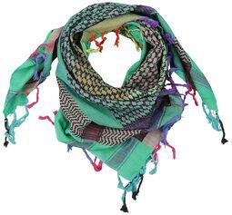 Palæstinensisk tørklæde Blå-grøn