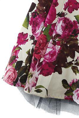 Audrey 50's Cream Floral Swing