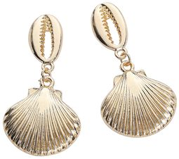 Golden Shell Earstuds