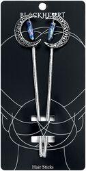 Crescent Moon Crystal hårpins