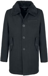 Manhatten Pea Coat med pelskrave