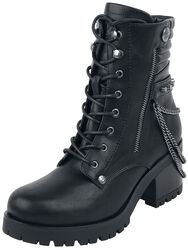 Boots with Chains and Decorative Zips