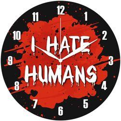 Vægur af glas I Hate Humans