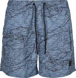 Pattern Swim Shorts- Map AOP