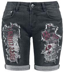 Distressed Shorts Rock Rebel