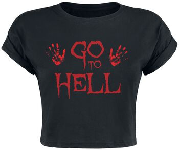 Go To Hell Cropped Top