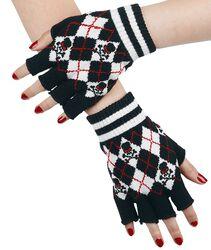 tartan fingerløse handsker