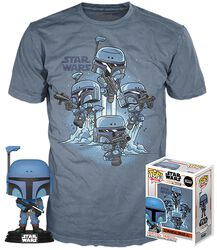 The Mandalorian T-Shirt plus Funko Death Watch Mandalorian Vinyl Figur