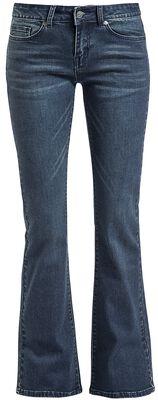Grace - mørkeblå jeans med flare